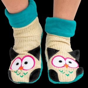 Lazy One Woodland Slippers Owl Small KIDS 4-9 Shoe